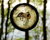 Made To Order Stained glass - Tiny Bee!   Suncatcher, home decor, perfect Gift!