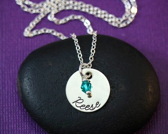 Custom Name Necklace - Personalized Child Name Necklaces - Birthday Gift  - Birthstone Necklace - Gift for Mom - Mommy Jewelry