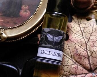 Octubre Fall Gypsy Apothecary Natural Perfume Roll on  Hay, Apple, Oakmoss,Cocoa ,Hickory Chamomile, Cinnamon,