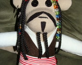 Captain Jack Sparrow Inspired Sock Monkey