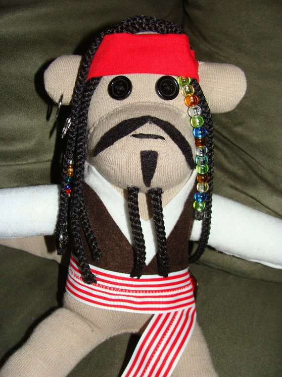 Captain Jack Sparrow Inspired Sock Monkey by ...