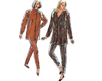 90s Womens High Neck Top Pattern Kwik Sew 2297 Vintage Sewing Pattern Sizes XS - XL UNCUT Factory Folded