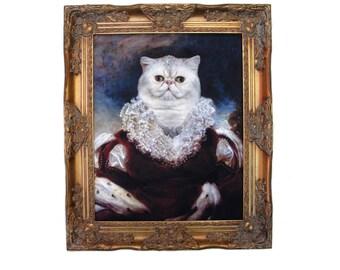"""Queen Nadira of Persia -  Ornate Frame 25.5"""" X 21.5"""""""