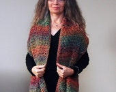 """Crochet Wrap PATTERN / Shawl With Buttons / Easy Beginner Pattern / Shoulder Warmer / PDF Download / Made in Canada / """"Rosewood Shawl"""""""