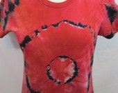 Tie Dye T-shirt Size Large Red and Orange