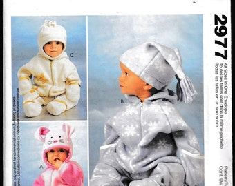 McCall's 2977 Infants' Bunting and Hats  Polar Gear