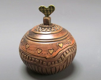 Valentine Carved Clay Box