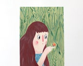 A4 Giclee Art Print - Garden Friends