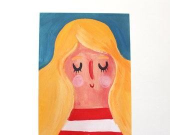 A4 Giclee Art Print - Tropez Girl