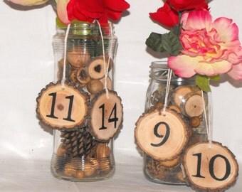 10 Wedding Table Numbers, Rustic Wedding Table Numbers, Rustic Table hanging Numbers For Wedding, Rustic Wedding Reception Table Numbers