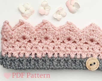 Crochet Headband Pattern, Kid Crown, Crown Costume, Princess Crown, Crochet Crown, PDF Pattern, Birthday Crown, DIY Crown Costume