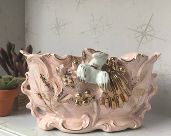 Pink vintage candy dish