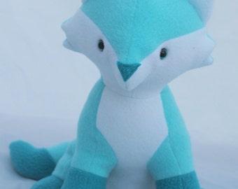Aqua Plush Fox toy