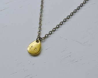 Drop of Tennessee Necklace - Drop Initial Necklace Gold
