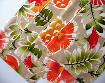 Spring Placemats, Orange Placemats, Floral Placemats, Summer Placemats, Tropical Placemats, Indoor/Outdoor Placemats
