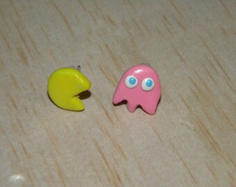 Pac Man and Speedy Pinky Earrings