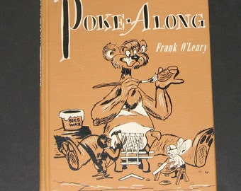 1955 Poke-Along vintage turtle book by Frank O'Leary - scarce childrens story