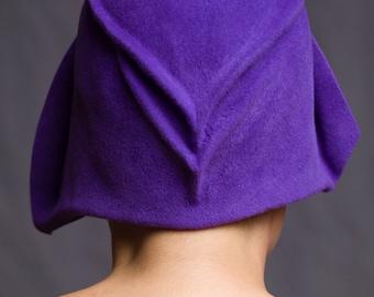 Hat Cloche Women Millinery Deluxe Wool Felt Purple Lavender