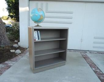 MID CENTURY MODERN Tanker Gray Metal Bookshelf (Los Angeles)