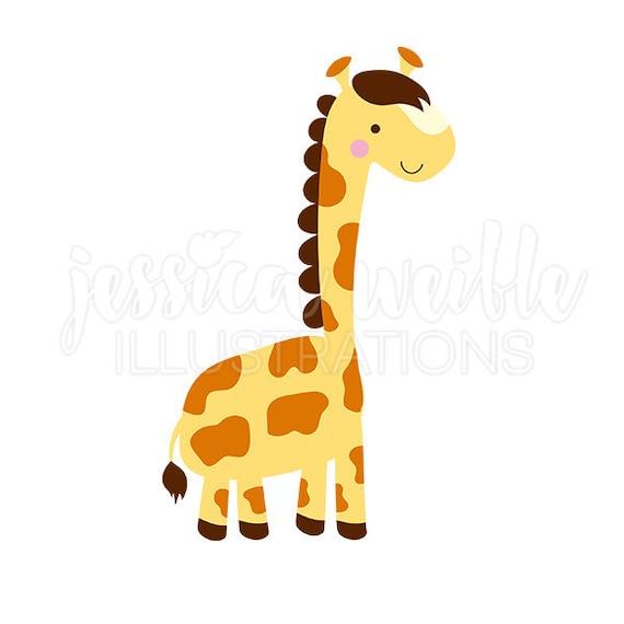 Lil Giraffe Cute Digital Clipart Cute Giraffe Clip art