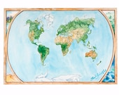 Roam the Globe Animal Map - Fine Art Giclee Print, Illustrated Map, Travel Gift - LARGE