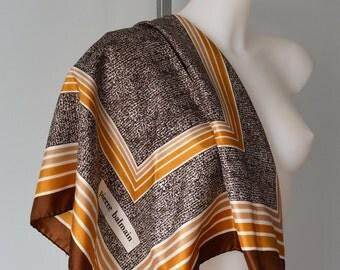 Vintage Pierre Balmain Silk Scarf, 196s Silk Scarf, Pierre Balmain, Vintage Silk Scarf, Ladies Silk Scarf