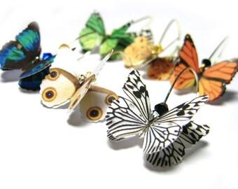 PICK 2 Butterfly Wing Earrings - Womens Statement Earrings -Spring Wedding Jewelry -Dangle Earrings For Sensitive Ears - Under 50 Gift Women