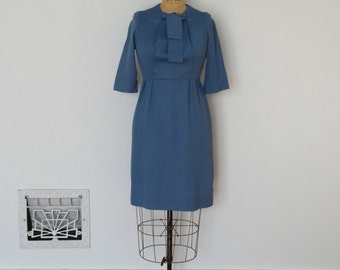 Vintage 1940s Dress - 40s Gabardine Dress - The Mia
