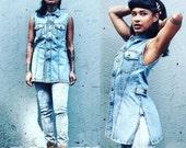 90s Gaultier Denim Top Dress Medium