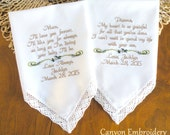 Wedding Gift for Mom Mother In Law Grooms Mom Brides Mom Mother of the Groom Mother of the Bride Wedding Gift Handkerchief Canyon Embroidery