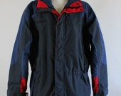 SALE - Vintage Columbia Interchange Hiking Camping Heavy Duty Rugged Outdoors Fall Winter Ski Jacket - Mens Size XL