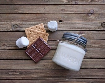 8 oz. S'mores Please Soy Candle, Scented Candle, Jar Candle