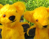 Glove Puppet Bear,Activity Toy,Creative Art Doll,Golden Yellow Plush Toy Animal,Boy Girl Adult Gift, Cool Toy for Kids, Easter Basket Item.