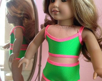 NEW!  American made Two-piece Swimsuit  to fit 18 inch doll