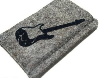 Felt cover for iPod nano 7g with guitar