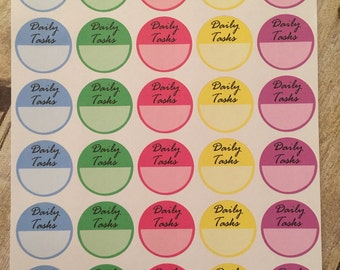 Daily Tasks Sticker Sheet for your Personal Planner or Calendar