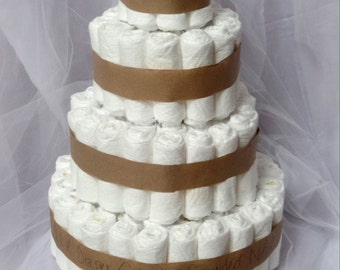 UNDECORATED Diaper Cake Plain DIY Make Your Own Diaper Cake Baby Shower Decoration