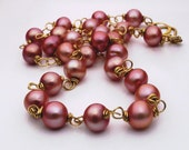 18K Gold Natural Pink Pearl Necklace - The Perfect Valentine's Day Gift