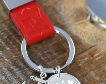 Love Anchors the Soul Key Ring, Anchor Key Ring, Engraved Anniversary Birthday Gift