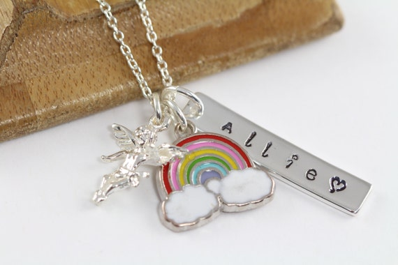 Rainbow Baby And Angel Baby Necklace For Moms