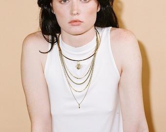 Mira Layered Spike Necklace