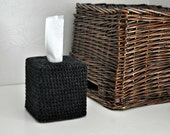 Black Tweed Tissue Cover Bathroom Nursery Decoration Modern Neutral Home Decor