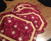 Red & Gold Christmas Placemats