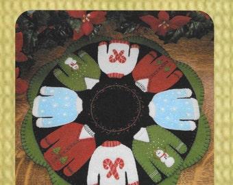 Wool Applique Pattern, Christmas Decor, Rockin' the Christmas Sweater, Wool Applique Candle Mat, Cath's Pennies Designs, PATTERN ONLY