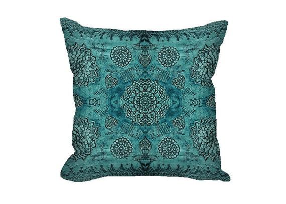 Bohemian Decor Baroque Pillow Cover Boho Decor Teal Pillow