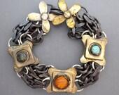 Natural Crystal Chain Bracelet