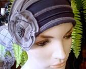 Womens Chemo Hat soft chemo hat chemo headwear chemo head cover grey