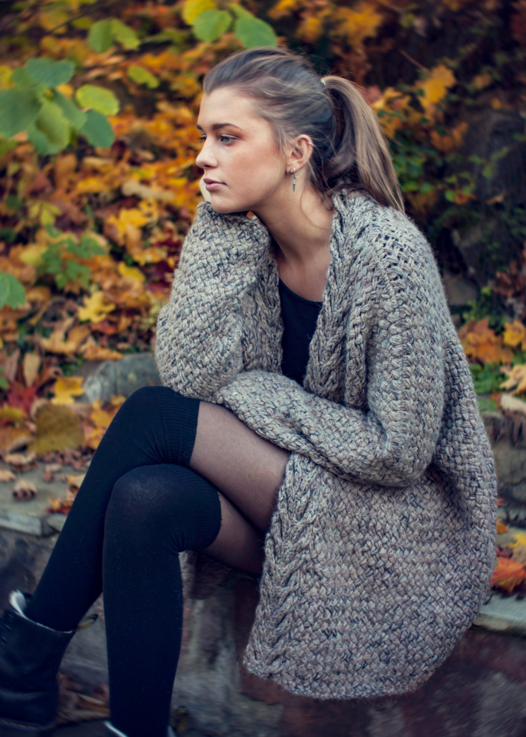 KNITTING PATTERN Dreamy Weave Cardigan Relaxed Fit