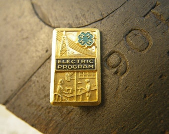 1930s 4-H Electric Program Pin Westinghouse Rural Electrification County Honor