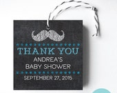 Little Man Chalkboard Mustache Printable Favor Tags or Stickers